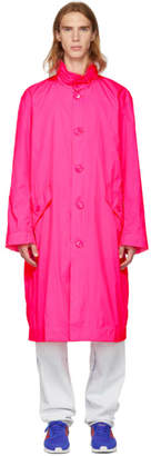 Opening Ceremony Pink Nylon Logo Trench Coat