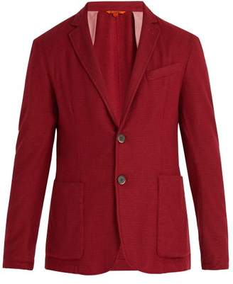 Barena Venezia - Single Breasted Alpaca Blend Blazer - Mens - Red