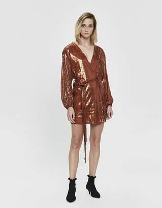 Farrow Ellenor Sequin Wrap Mini Dress