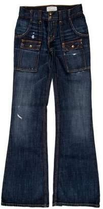 Current/Elliott Distressed Flared Jeans w/ Tags