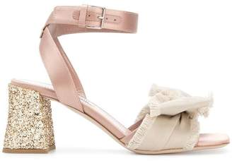 Miu Miu glittered block heel sandals