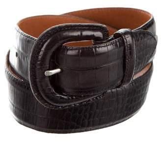 Ralph Lauren Crocodile Buckle Belt