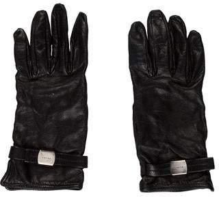 Prada Leather Silk-Lined Gloves