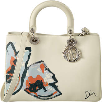Christian Dior Cream Leather Medium Diormissimo