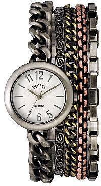 JCPenney Decree Multi-Chain Bracelet Watch