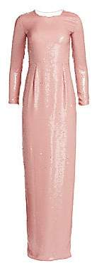 Stella McCartney Women's Sequin Side Slit Column Gown