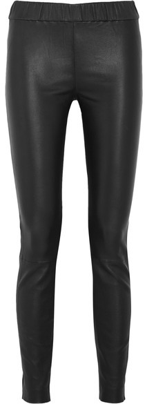 J.Crew - Stretch-leather Leggings - Black