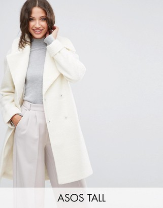 ASOS Tall ASOS TALL Coat in Oversized Fit with Turn Back Cuff $113 thestylecure.com