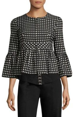 Nanette Lepore Check In Jacket $498 thestylecure.com