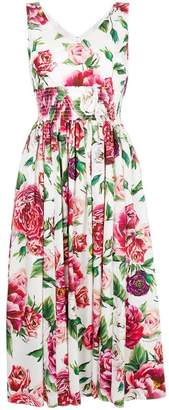 Dolce & Gabbana flared floral shift dress