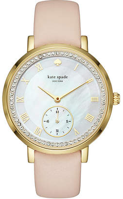 Vachetta and gold pave monterey multifunction watch $250 thestylecure.com