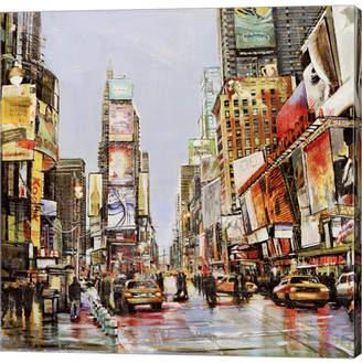 Metaverse Times Square Jam by John B. Mannarini Canvas Art