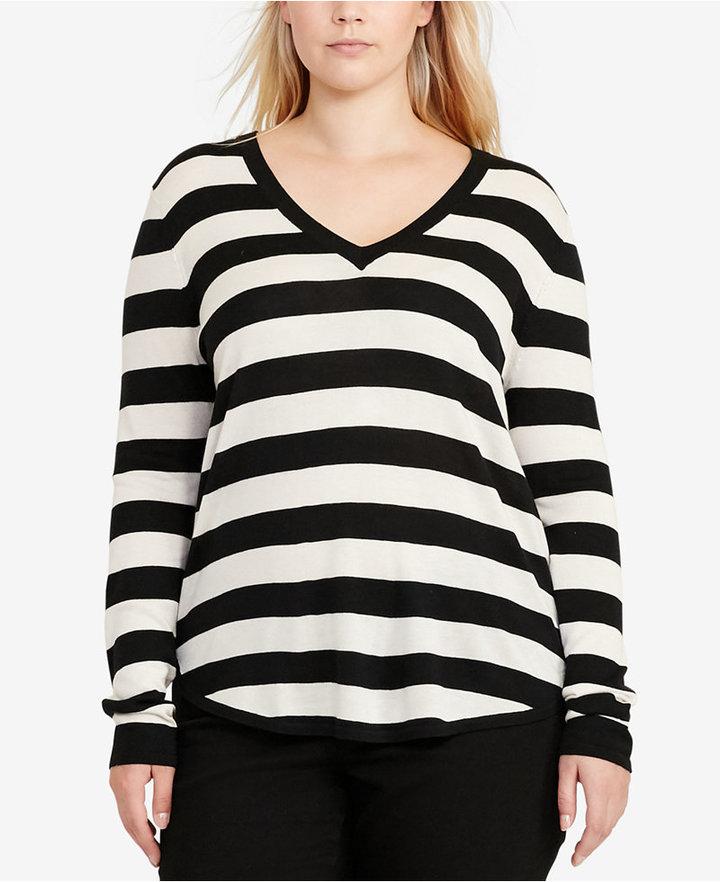 Lauren Ralph LaurenLauren Ralph Lauren Plus Size Long-Sleeve V-Neck Sweater