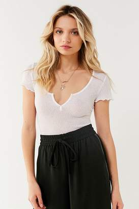 Out From Under Serena Notch Henley T-Shirt