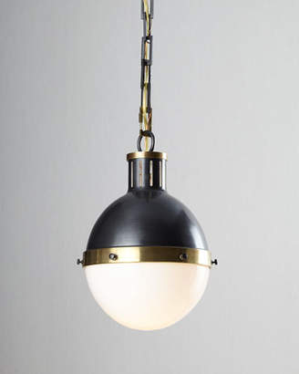 Visual Comfort Hicks 2-Light Extra-Large Bronze with Antiqued Brass Pendant