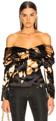 Marques Almeida Marques ' Almeida Pleated Off Shoulder Top