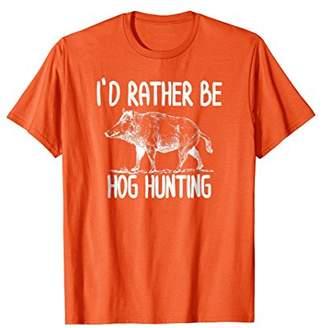 Hunter Hog Boar Hunting T-Shirts Outdoor Funny T-Shirts