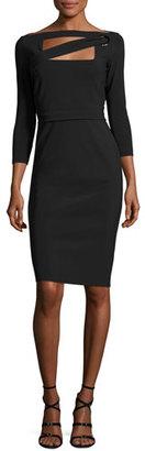 La Petite Robe di Chiara Boni Peekaboo Cutout Sheath Dress, Nero (Black) $695 thestylecure.com
