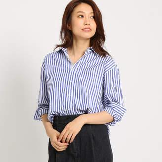 Dessin (デッサン) - Dessin(Ladies) 【洗える】アイコニックストライプコットンシャツ