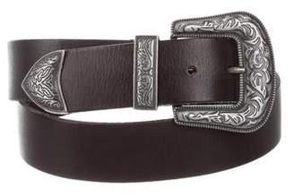 Frye Leather Buckle Belt