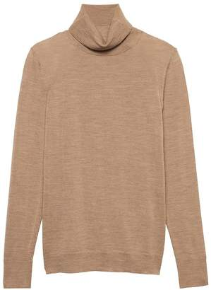 Banana Republic Petite Washable Merino Wool Turtleneck Sweater
