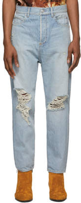 Balmain Blue Straight Fit Jeans