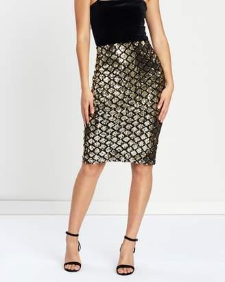 Dorothy Perkins Diamond Sequin Pencil Skirt