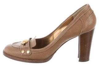 Dolce & Gabbana Leather Round-Toe Pumps