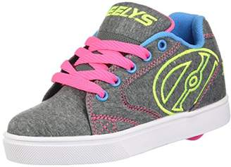 Heelys Boy's VOPEL Running Shoes, Grey/Heathered Neon/Multi