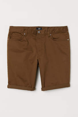 H&M Slim Fit Cotton Shorts - Brown