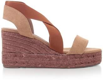 Castaner Cross Strap Wedge Sandals