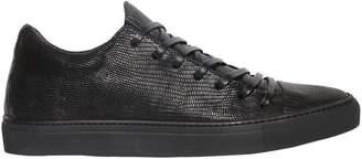 John Varvatos Lizard Embossed Leather Sneakers