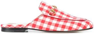 Gucci gingham Princetown mules