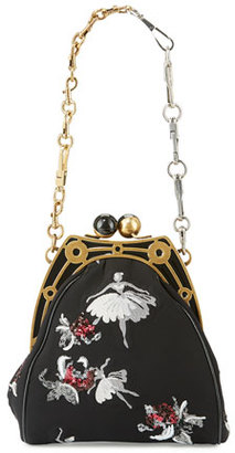 MARC by Marc Jacobs Ballerina-Embroidered Framed Shoulder Bag, Black $2,900 thestylecure.com