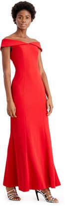Calvin Klein Off-The-Shoulder Gown