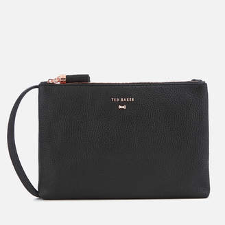 Ted Baker Women's Suzette Leather Double Zipped Cross Body Bag