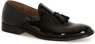 Topman Black Patent Tassel Loafers