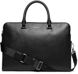 Michael Kors Cross-Grain Leather Double-Zip Briefcase