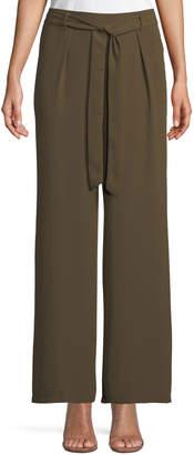 Dex Wide-Leg Tie-Waist Side-Slit Pants