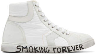 Saint Laurent White Antibe High-Top Sneakers