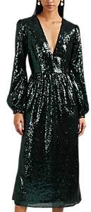 Saloni Women's Camille Sequined Midi-Dress - Dk. Green