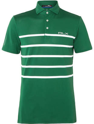 RLX Ralph Lauren Striped Stretch Tech-Piqué Polo Shirt