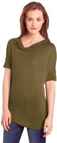 Chaus Women's Short Sleeve Drape Neck Top