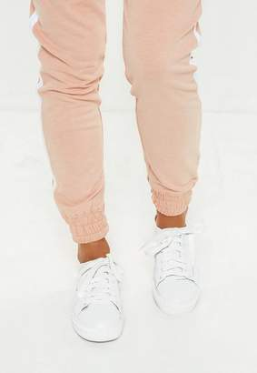 Missguided White Lace Up Mule Sneakers