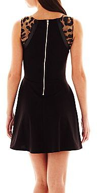 JCPenney Sleeveless Animal Detail Dress