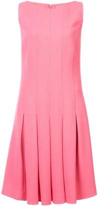 Oscar de la Renta panelled pleated dress