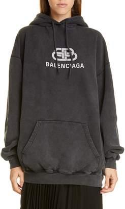 Balenciaga BB Logo Oversize Hoodie