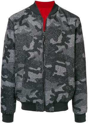 Woolrich reversible camouflage bomber jacket