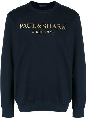 Paul & Shark logo crewneck sweatshirt