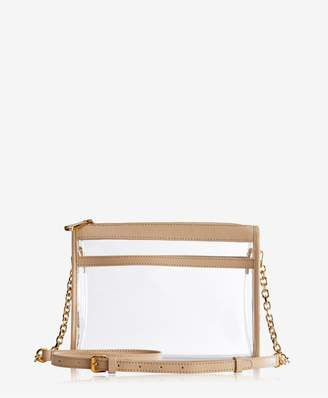 GiGi New York Leigh Anne Crossbody In Clear Bag With Vachetta Trim